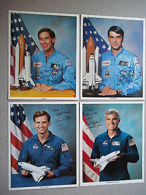 STS-59 Complete Set of Autographed 8X10 Crew Singles