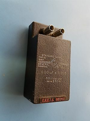 GENERAL RADIO STANDARD CAPACITOR TYPE 509-F 0.001uf 500V