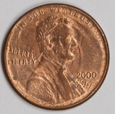 2000 Double Date and Liberty Struck Thru Shifted Cap Die Lincoln Cent Mint Error