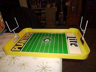Planters Peanut Plastic Tray with Football Field Design + Goal Posts #151