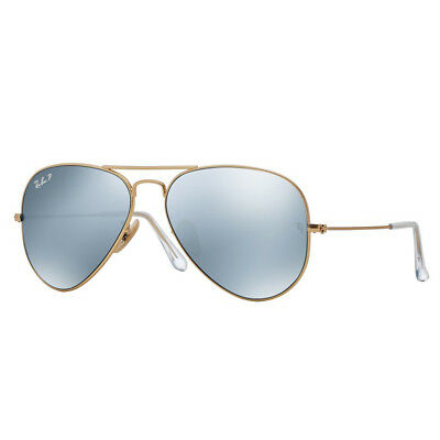 Ray Ban RB3025 112/W3 58mm Gold Silver Flash Aviator Sunglasses