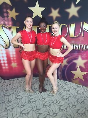 Sassy Red Jazz Custom Competition Dance Costume 2