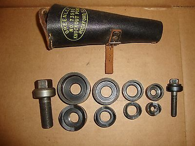 "Greenlee No. 735BB Conduit Knockout Punch Set 1/2"" - 1-1/4"" w/ Leather Case"
