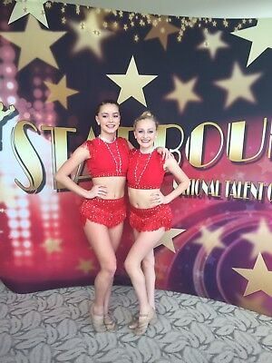Sassy Red Jazz Custom Competition Dance Costume 4