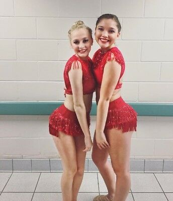 Sassy Red Jazz Custom Competition Dance Costume 5