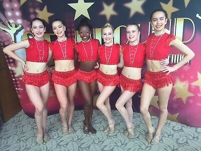 Sassy Jazz Red Custom Competition Dance Costume