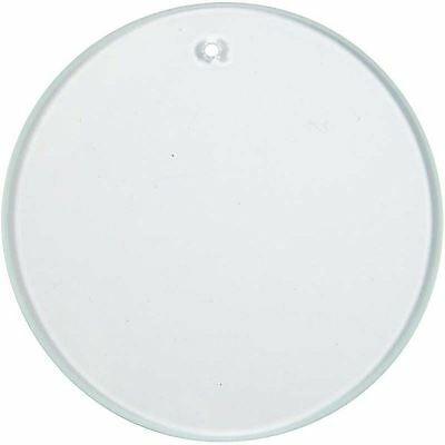 7cm Glass Circle for Painting with Hole for Hanging