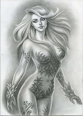A00930 Poison Ivy by Torres *NOT A PRINT* original art drawing marvel comics