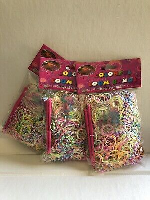 Rainbow loom  rubber bands 600 pc + 2 hooks + clips/ latex free + FREE gift