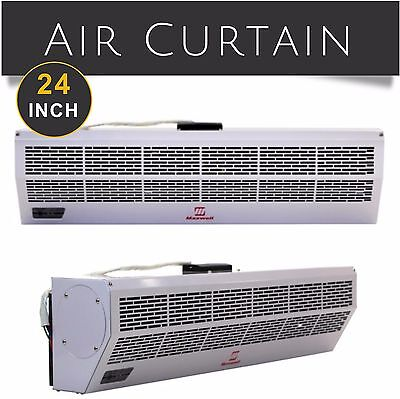 "24"" Commercial Air Curtain Remote Control Electric Heater 2 Speed Maxwell 230V"