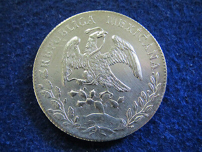 1891 Cn Mexico Silver 8 Reales - Culiacan Mint - Free U S Shipping