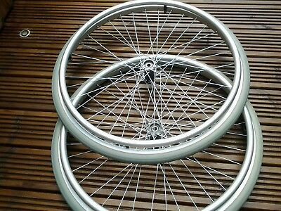 Two Invacare 24 X 1/38 Wheelchair Action Wheels