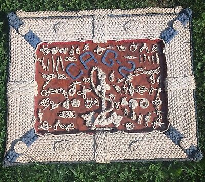 Nautical Knot Board - Display MARITIME  - USS CANBERRA CAG-2    -WW2 -  US NAVY
