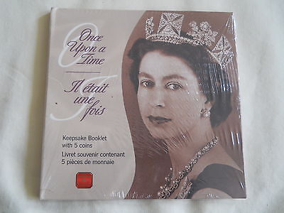 Lot of 2 2002 Canada Once Upon a Time Keepsake Booklet 5 Coins 50 Cents