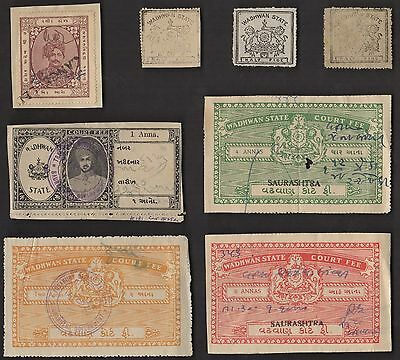 8  WADHWAN (INDIAN STATE) All Different Stamps (c80)