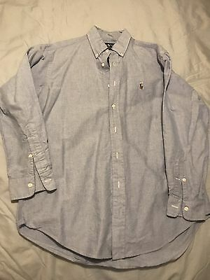 Ralph Lauren Yarmouth Men's Long Sleeve 15 1/2- 33 Large