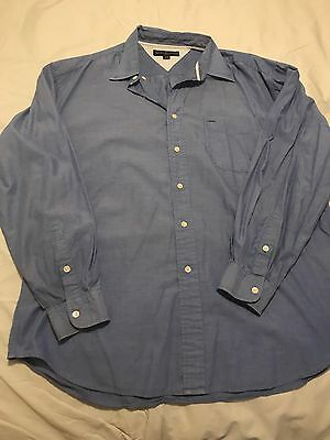 Tommy Hilfiger Men's Long Sleeve Golf/ Dress Shirt XL BLUE