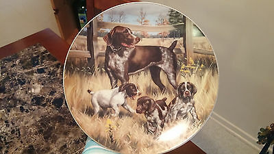 Classic Sporting Dogs Hamilton Collection plates German Shorthair Pointers