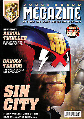 Judge Dredd Megazine #43 Volume 3 , Jul 1998 , Preacher , Fleetway , VERY FINE