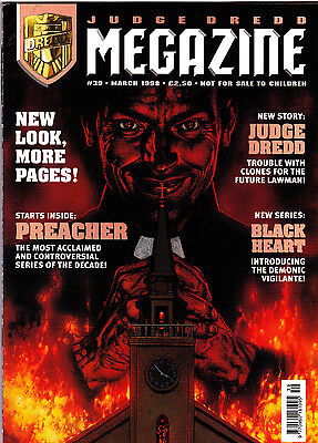Judge Dredd Megazine #39 Volume 3 , Mar 1998 , Preacher #1 , Fleetway , FINE