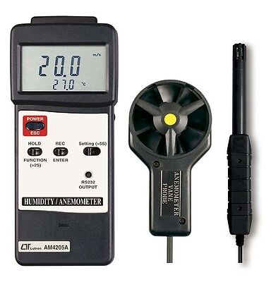 Lutron AM4025A Anemometer With Humidity (Supplied with Aust Tax Invoice)
