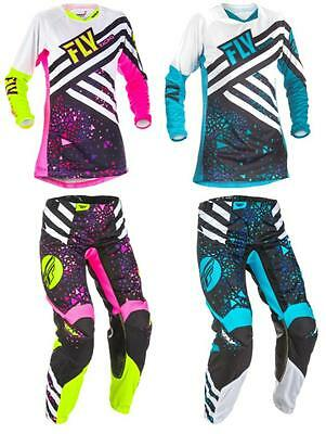 2018 Fly Racing Kinetic Women's Jersey Pant Combo Motocross Off Road Dirt Bike