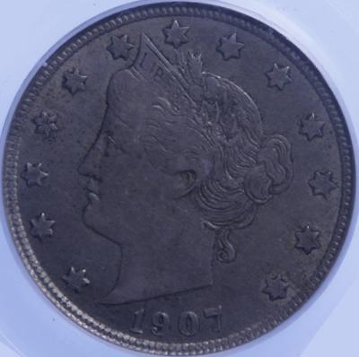 1907 Liberty Nickel, Pcgs Xf40, Tough Early Date, Super Clean, Sharply Detailed!