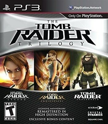 Playstation 3 Ps3 Game Tomb Raider Trilogy  Brand New