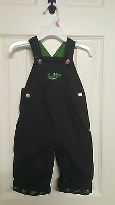 Boys Size 3-6 Months Gymboree Later Gator Navy Blue Overalls