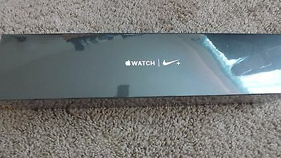 NEW! Apple Watch Nike+ 42mm Aluminum Case Black/Cool Gray Sport Band MNYY2LL/A