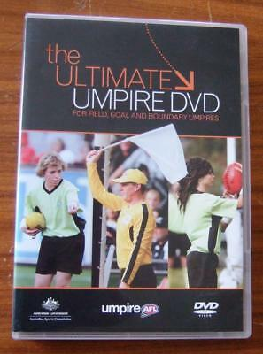 The Ultimate Umpire DVD - AFL - For Field, Goal, and Boundary Umpires. Inc. Book