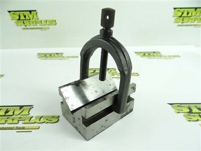 "Machinists V Block Work Holding Fixture 1-5/8"" Capacity W/ Clamp"