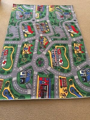 City Roads Children's Toy Car Rug Matt. Large Size. Great For Pretend Play.