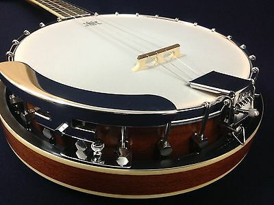 Caraya BJ-004 4-String Tenor Banjo w/Mahogany Resonator+Free Ging Bag