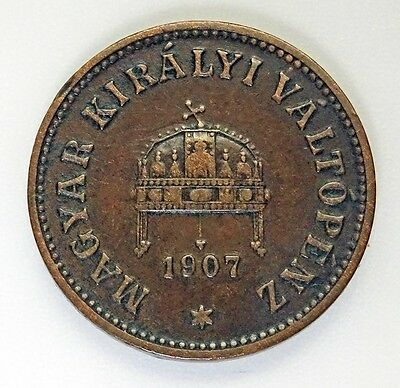 1907 KB Hungary 2 Filler Coin *FREE USA & LOW INTL. SHIPPING*