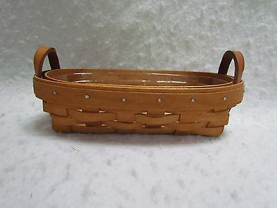 1994 Longaberger Lavender Booking Basket with Protector