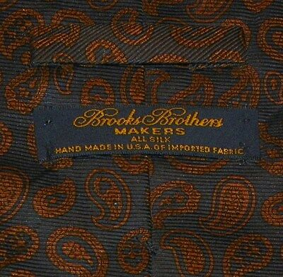 BROOKS BROTHERS [MAKERS]  men's tie 100% Silk Made in USA