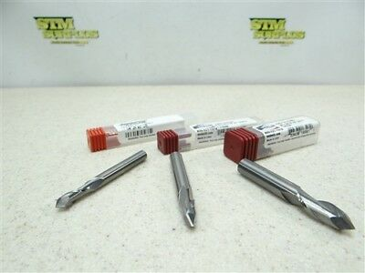 "New! Lot Of 3 Solid Carbide Drill Mills 1/4"" 5/16"" & 3/8"" Accupro Melin"