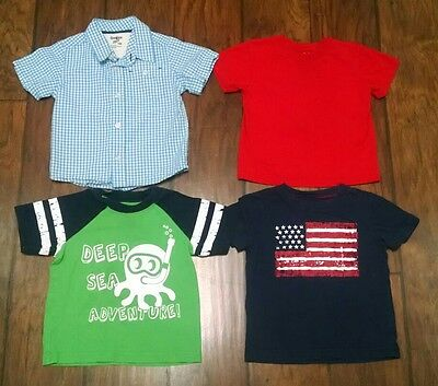 Lot of 18 Month Toddler Boy Short Sleeve Tops Polo T-shirts Patriotic Summer