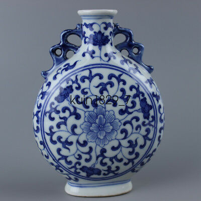 Old Chinese Hand-painted Classical Elegant Blue and white porcelain CQ897