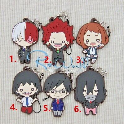 Hot Japan Anime Boku no Hero Academia Rubber Strap Keychain Pendant Gift 03