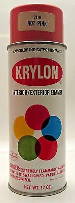 Krylon Hot Pink Name Label VTG  Spray Paint Can Rare