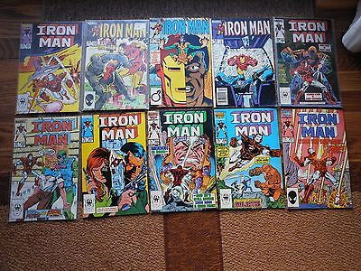 Ironman Lot Of 11 1985 Marvel #192-207 (F-Nm) Rhodey Silver Armor Stane-Sale