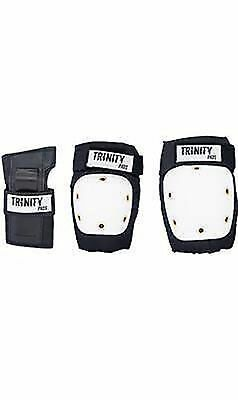 Trinity Protective Pad set Knee Elbow Wrist Pack Bike Skate Black