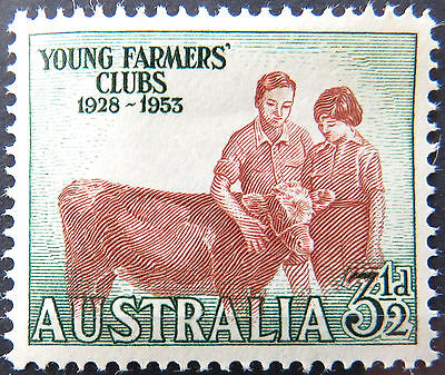 1953 Australian Pre Decimal Stamps:25th Ann Aust Young Farmers Clubs-Single MNH