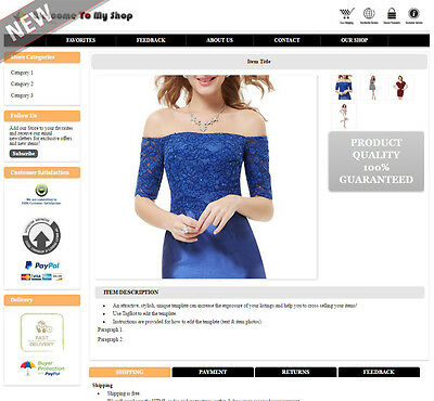 eBay Listing Template Mobile Responsive Layout Change No Active Content - HMR3O