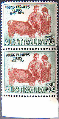 1953 Australian Pre Decimal Stamps:25th Ann Aust Young Farmers Clubs-Double MNH