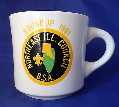 Vintage Roundup 1981 Northeast ILL. Council B.S.A Coffee Mug Cup