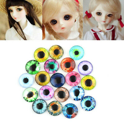 20x 10MM/16MM/20MM Glass Eyes Kit For Needle Sewing Felting Bear DIY Doll Crafts