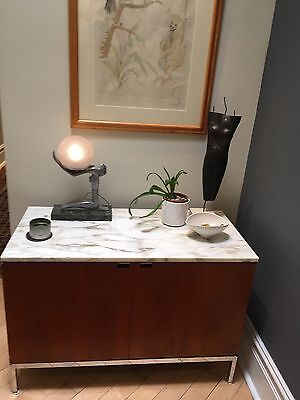 Florence Knoll Teak And Marble Credenza Cabinet  Mid Century Modern.  Xerox